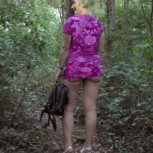 Andrea in the woods